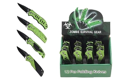 12 Pieces Biohazard Zombie Survival Mini Knife