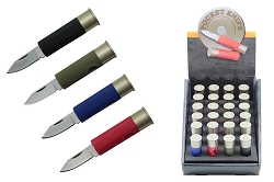24 Pcs Shot Gun Bullet Display Knife