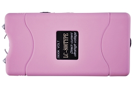 Pink 2.8 Million Volt Rechargeable Stun Gun w/ Flashlight