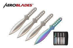 4 Pcs Aero Blades Throwing Knife Set with Sheath 7.5 inches Thrower - A00014CH