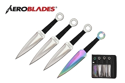 4 Pcs Aero Blades Throwing Knife Set with Sheath 7.5 inches Thrower - A00084CH
