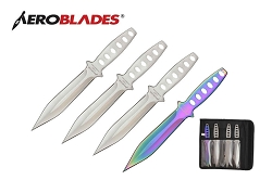 4 Pcs Aero Blades Throwing Knife Set with Sheath 7.5 inches Thrower - A00094CH