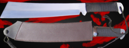 Fourth Blood Functional Machete Blade Rambo Style Hunting Knife With Sheath