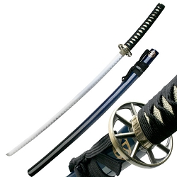 Oriental Sword With 2 Tone Graduation Black To Blue Scabbard