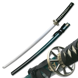 Oriental Sword With 2 Tone Black To Green Scabbard