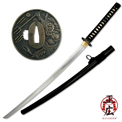 Hand Forged High Carbon Steel Samurai Sword With Sageo And Ito Braid