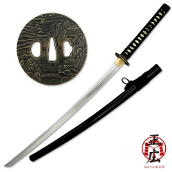 Hand Forged High Carbon Steel Samurai Sword With Double Pegged Design Handle