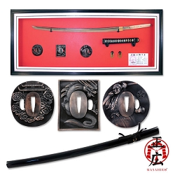 Hand Forged Extremely Sharp Carbon Steel Samurai Sword With Bronze Tsuba