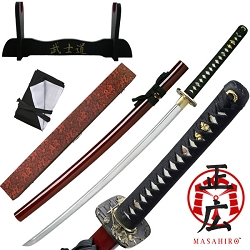 Hand Forged Carbon Steel Samurai Sword With Zinc Alloy Tsuba