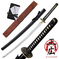Hand Forged Carbon Steel Samurai Sword With Ray Skin Handle