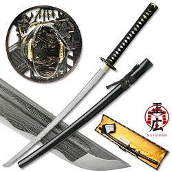 Hand Forged Carbon Steel Samurai Sword, Zinc Alloy Samurai Battle Theme Design