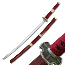 Oriental Sword With Red Cord Wrap Handle