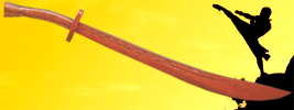 Kung Fu Wooden Practice Broad Sword - Wholesale Discounts For Each Additional Broad Sword