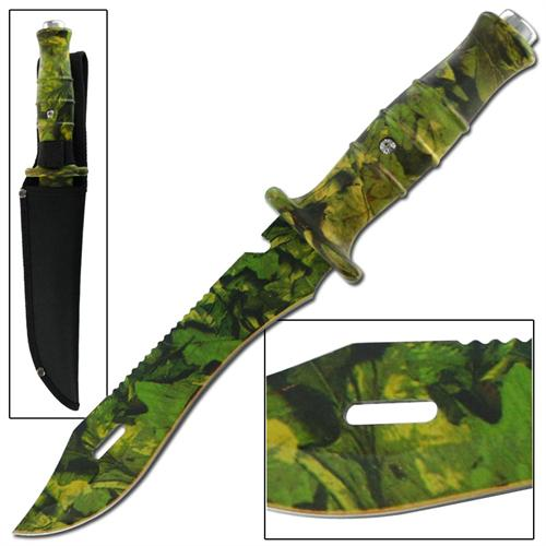 Adversary Deception Traditional Jungle Camo Bowie Knife