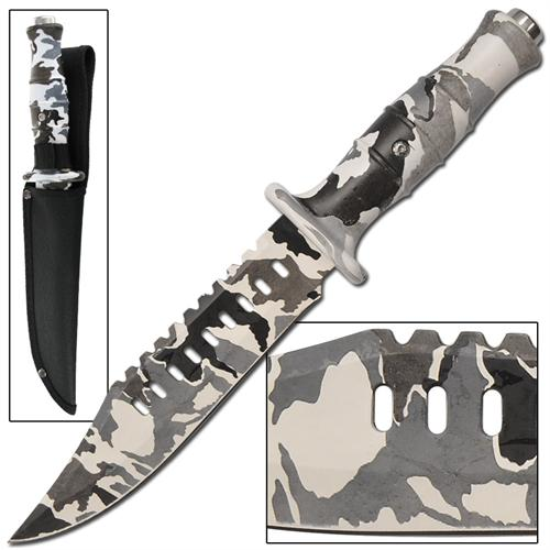 Chameleon Decoy Tactical Military Arctic Camo Bowie Knife