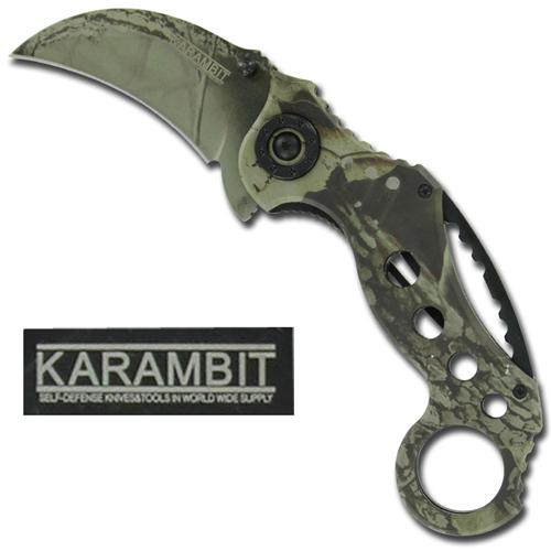Mossy Oak Karambit Spring Assisted Tactical Knife