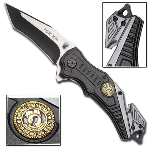 POW MIA Bring Em Home Spring Assisted Knife