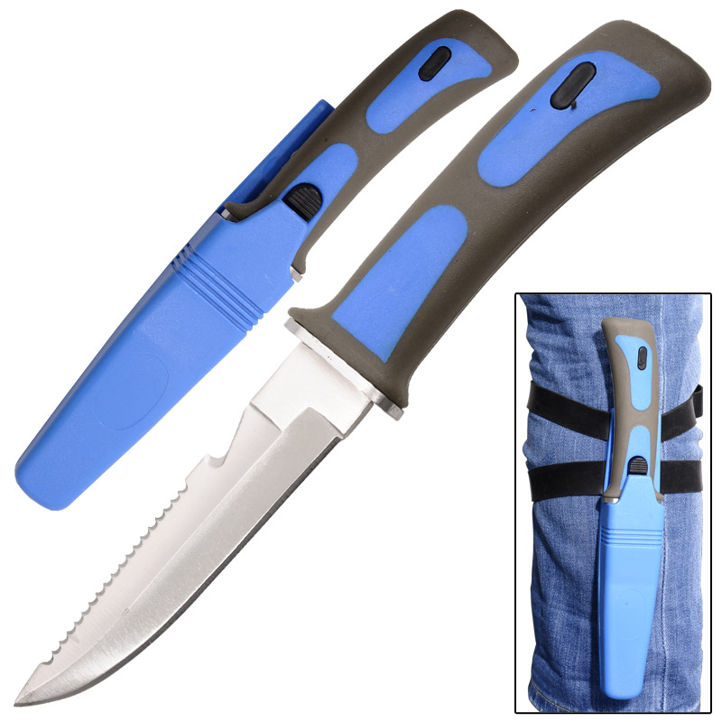 Sawtail Drop Point Diving Knife