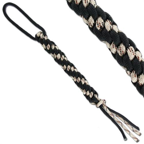 Type III Paracord Survival Loop Black & Desert Camo