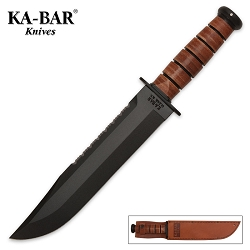 Kabar Big Brother Leather Handle Fighting Knife