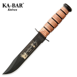 Kabar Army Vietnam Bowie Knife with Leather Sheath