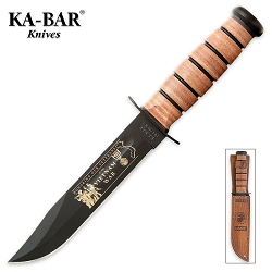 Kabar USMC Vietnam Bowie Knife with Leather Sheath