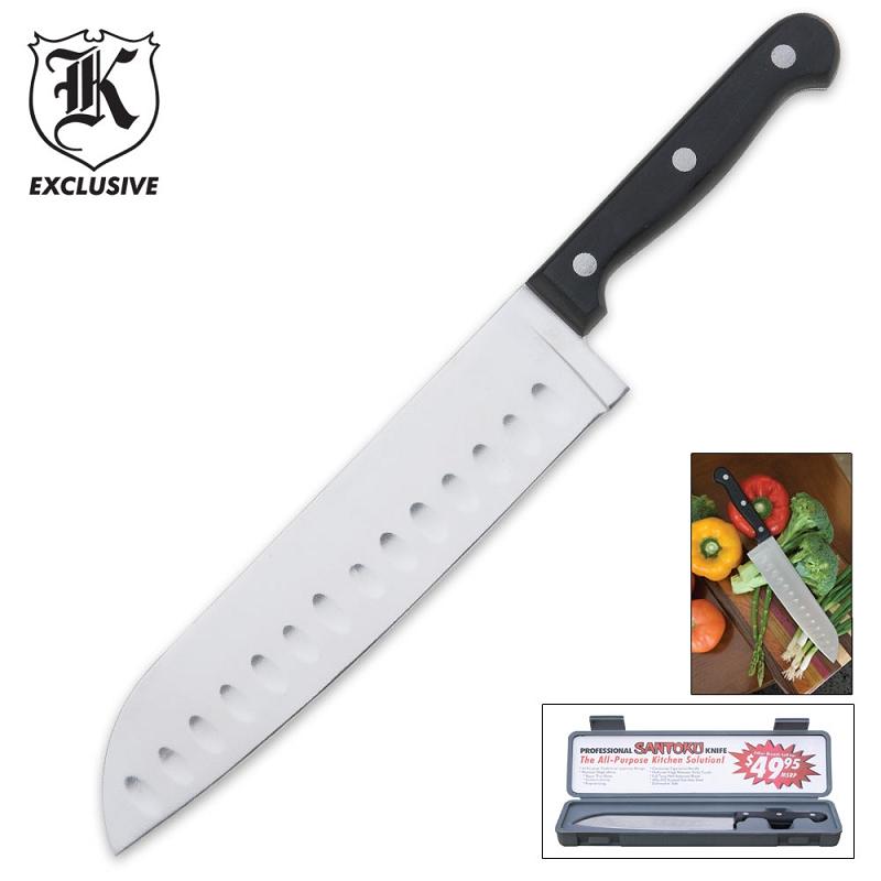 santoku kitchen knife with case. Black Bedroom Furniture Sets. Home Design Ideas