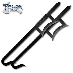 2-piece Chinese Hook Sword Set Black