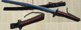 Anime Bankai Katana Sword - Red/Black Handle