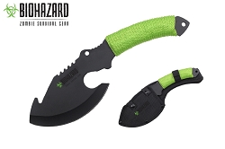 Biohazard Zombie Survival Axe Green Cord Wrapped Handle 11