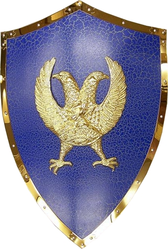 Loyalty Double Headed Eagle Shield and Sword Hanger
