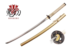 Musashi The Last Soul GOLDEN  Samurai Fully Functional Carbon Steel Katana Sword - Gold Samurai sword 41.2 inches length