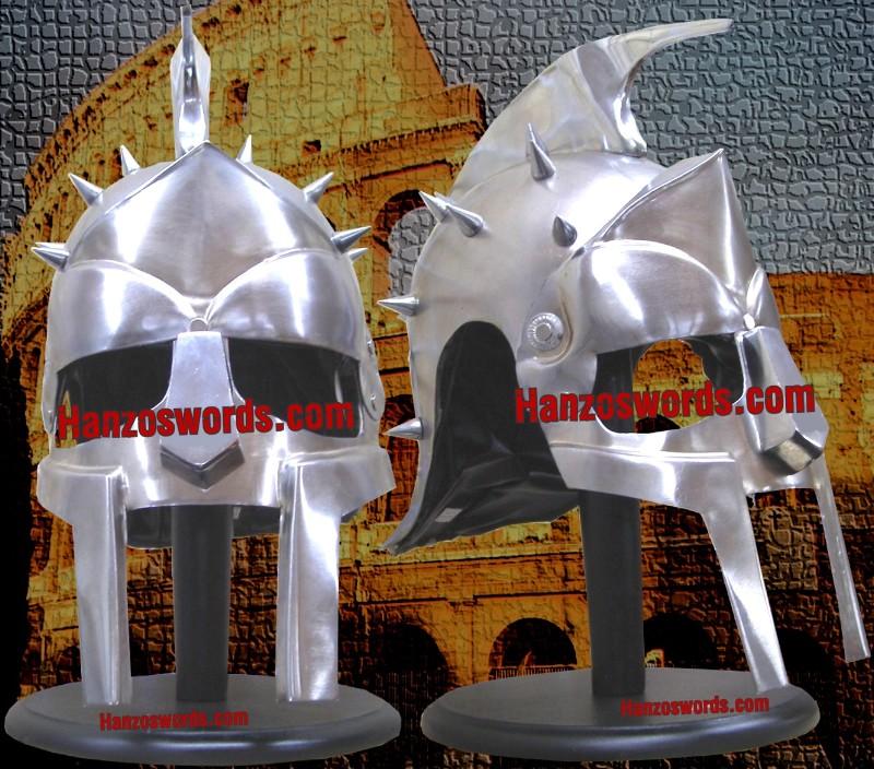 Shiv Shakti Enterprises Medieval Maximus Decimus Meridius Gladiator Armor Helmet Costume Free Wood Stand by Shiv Shakti Enterprises