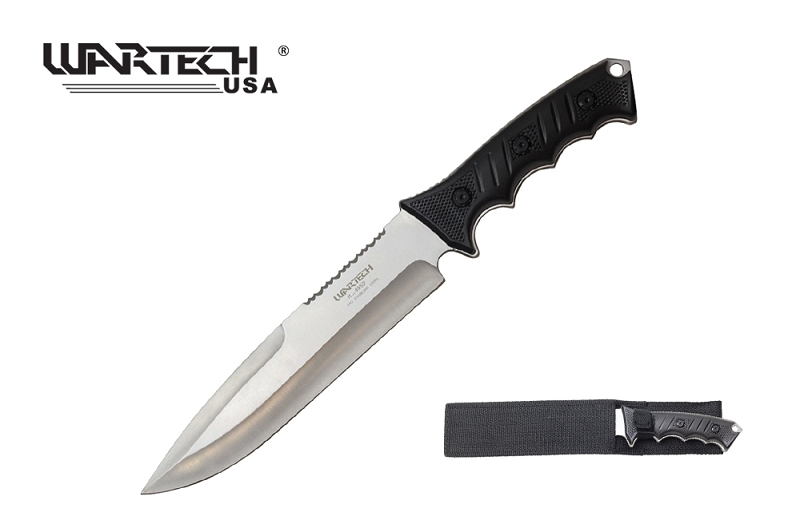 milspec 13 5 silver tacticool hunting knife