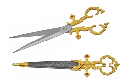 Medieval  Royal Bodice Scissors 10 inches   in GOLD