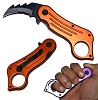 Mini Combact Karambit -Orange Spring Assisted Knife