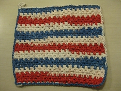 Dish cloth set of 3 -Hand Knit USA fabric and yarn