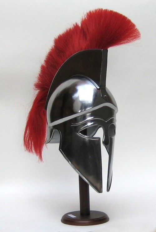 Armor Helmet Corinthian With Red Plume