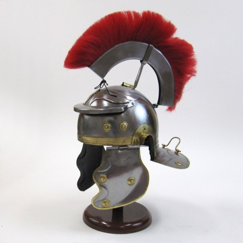 Roman Centurian Helmet with Crest Red