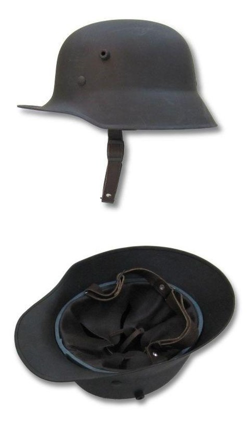 WW1 Replica Helmet M18, Leather lined, Adjustable Chin Strap