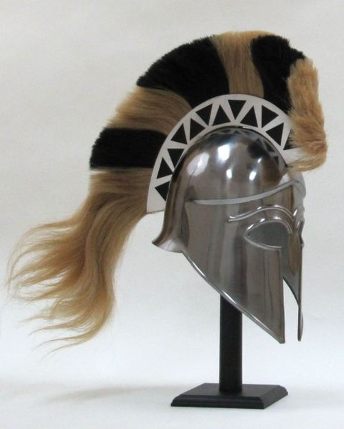 Greek Corintian Armor Helmet With Plume