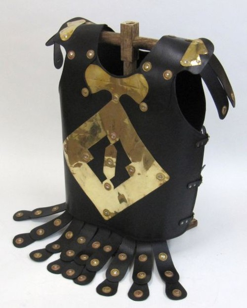 Leather Armor Cuirass Brass Fitted