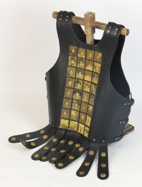 Leather Armor Cuirass brass rivets