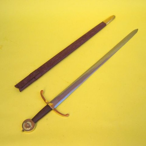 Medieval War Sword With Scabbord