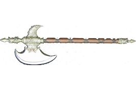 King Battle Axe With Wood Handle
