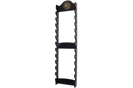 12 Sword Katana Wall Stand - With Warrior Samurai Symbol