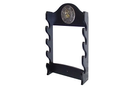 4 Sword Katana Wall Stand - With Warrior Samurai Symbol