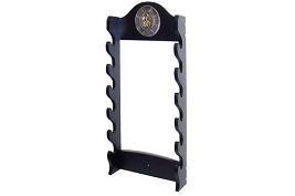 6 Sword Katana Wall Stand - With Warrior Samurai Symbol
