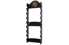 8 Sword Katana Wall Stand - With Warrior Samurai Symbol