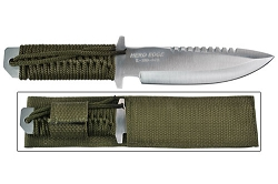12 Inch Full Tang Hunting Knife with nylon paracord  & Sheath
